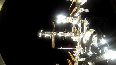 国際宇宙ステーションと宇宙船がドッキングする一部始終を収めたスケール感あふれるムービー - GI