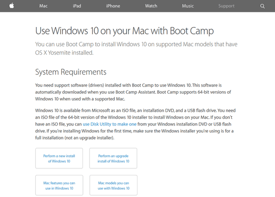 apple boot camp support software windows 10