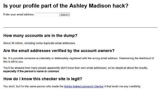 ashley madison email check