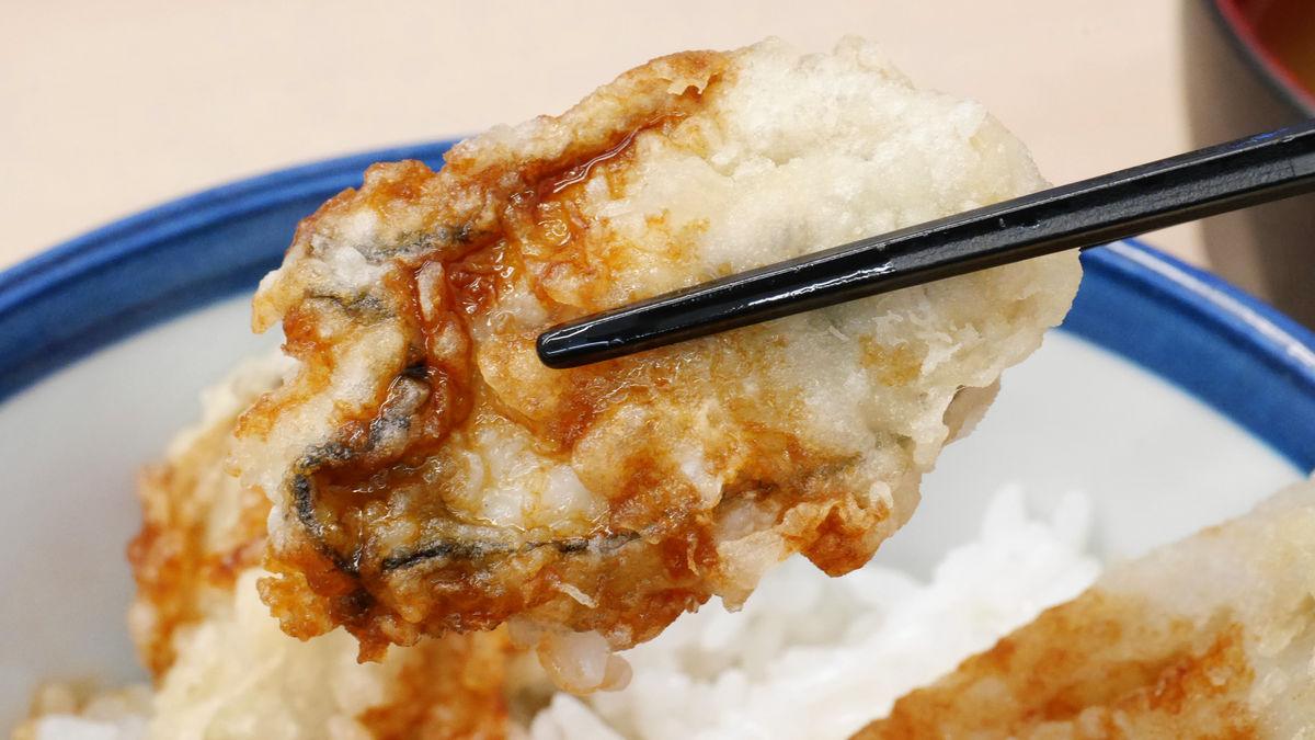 プリプリのかきから旨みがあふれ出す「かきと芝海老の天丼」を天丼てんやで食べてみた - GIGAZ