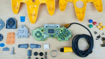 任天堂の歴代ハード、ファミコン・スーファミ・N64のコントローラーをバラバラに分解 - GIGAZINE