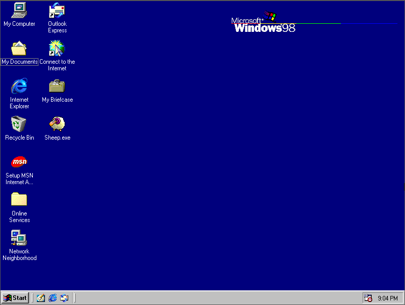 How to download and run a program from the web in windows 95/98.