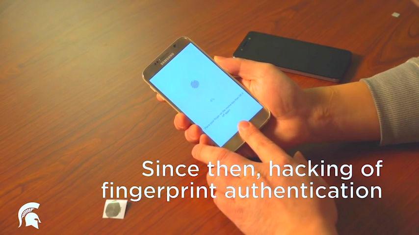 Smartphone fingerprint authentication broke with fingerprint