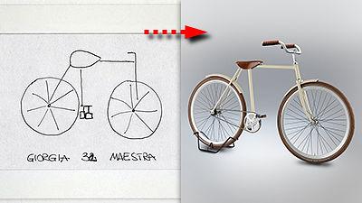 実物を見ずに描いてもらった自転車イラストを現実化すると大体こんな感じになる Gigazine