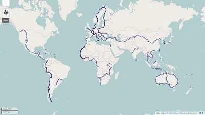 Ruts that circled the world by bicycle can be displayed with online ruts that circled the world by bicycle can be displayed with online map service such as google map gumiabroncs Gallery