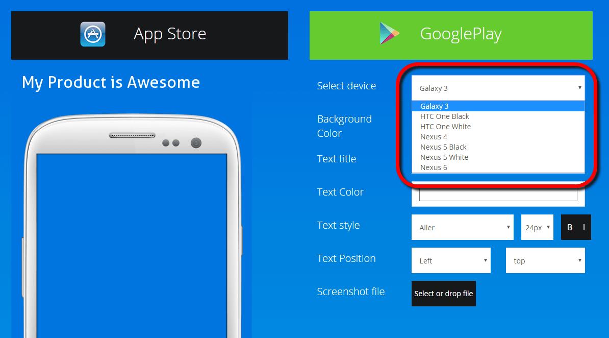 App Screenshot Generator