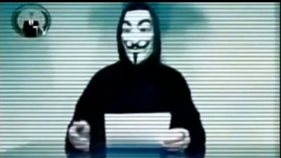 Anonymous hacker group executed DDoS attack