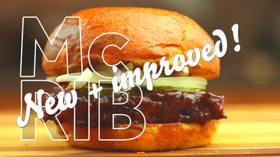 マクドナルドのあの「マックリブ」を料理人が丸一日かけて最高級クオリティで作り上げてみた