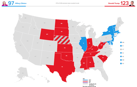 Finally The Us Presidential Election Campaign Preliminary Figures - Google-us-election-map