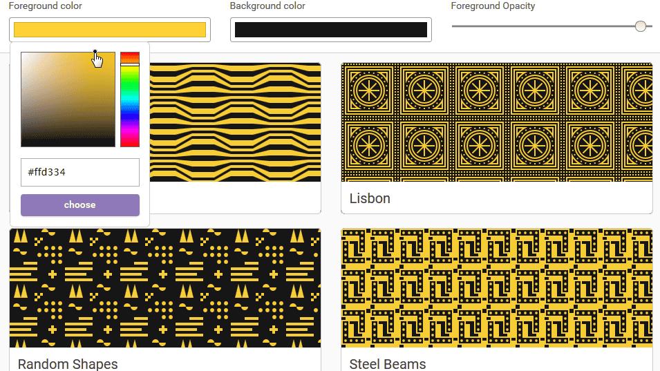 無料でウェブサイトに使える繰り返し背景パターンをカスタマイズしてダウンロードできる「Hero Patterns」
