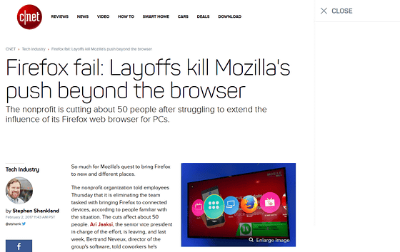 Mozilla abandoned the development of