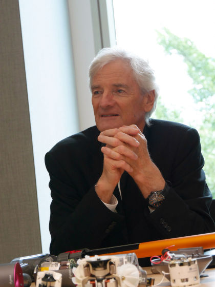 I interviewed james dyson and asked about technology and for James dyson