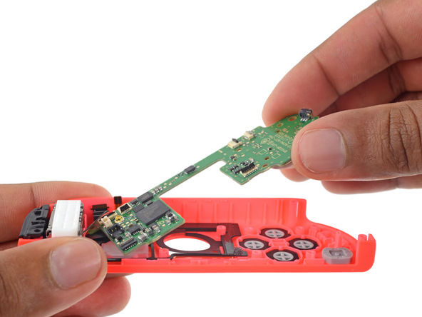 Disassembled Nintendo Switch in pieces, proved easy to
