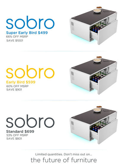 コーヒーテーブルなのに冷蔵庫&電源内蔵でドリンクを冷やしてusb充電も可能な「sobro」 Gigazine