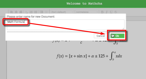Online mathematics editor mathcha which can draw full fledged a useful point of mathcha is that you can import formulas you created with latex with copy and paste pasting tags in the dialog ccuart Gallery