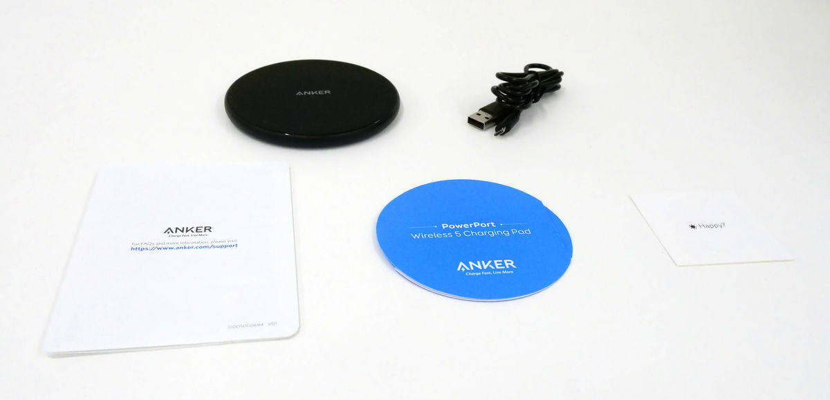I tried using Anker's wireless charger