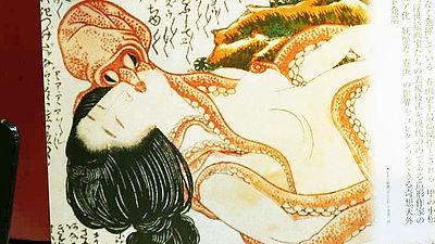 春画の名作葛飾北斎作 蛸と海女を立体化歴史的名画を立体造形表現
