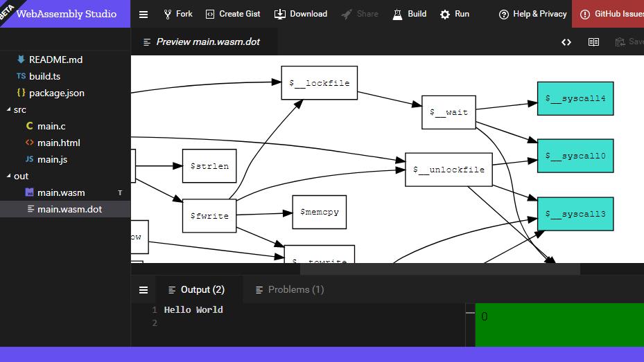 ブラウザから機械語を実行できる...