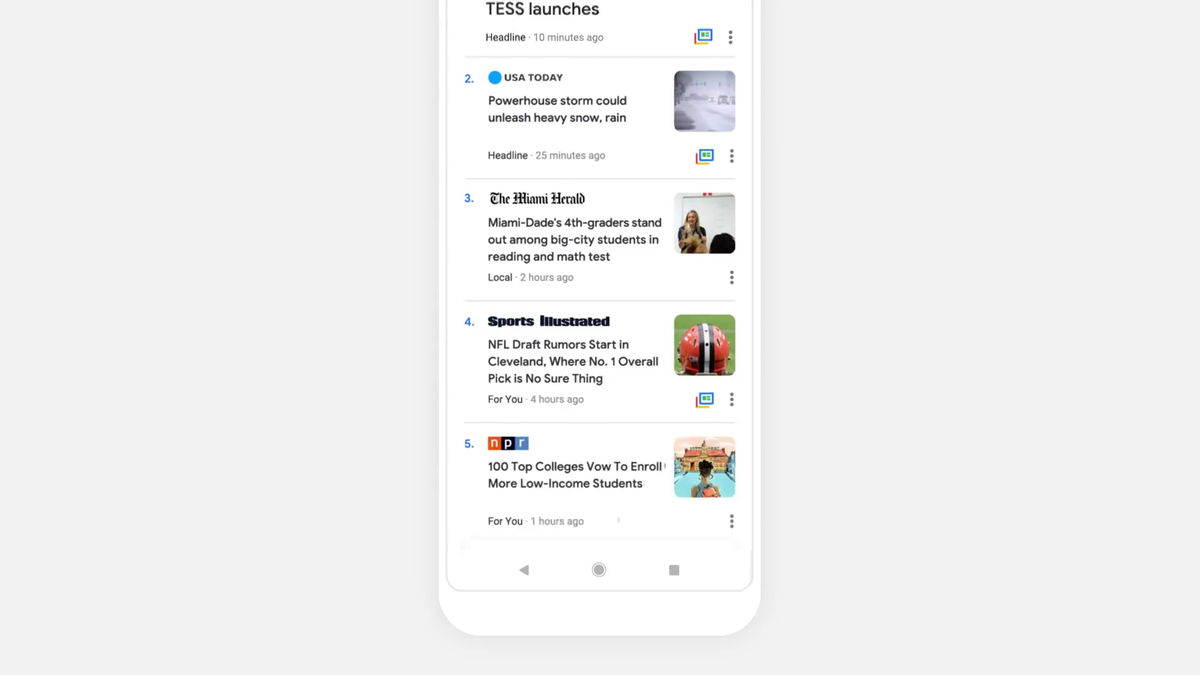Google News is a major renewal, AI collects news