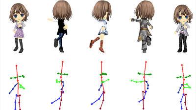 AIを用いてアニメキャラクターの高解像度画像を生成しアニメーションまでつける「PSGAN」をDeNAが発表