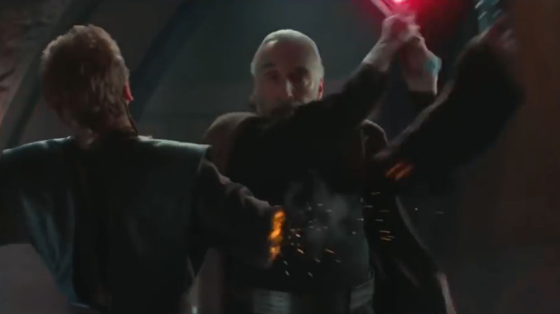 What Is The Symbol Of The Arm Cutting Scene In The Movie Star Wars