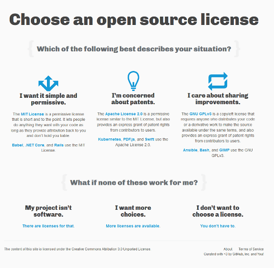 guide to understand which license to choose when opening open source rh gigazine net Open Source License Comparison Software License