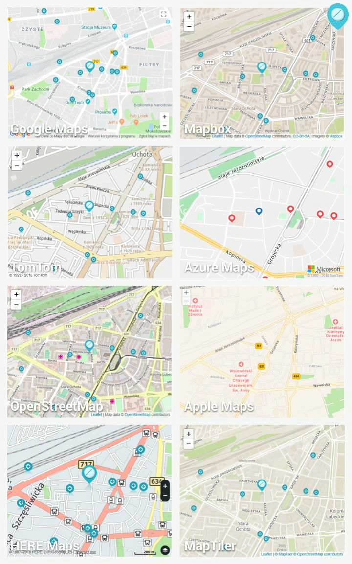 There are plenty of alternative online maps that become 'evacuation