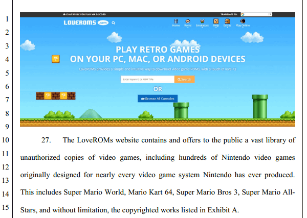 Nintendo appeals a famous site that distributes pirated