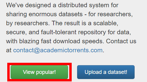 Academic Torrents' sharing 27 TB or more research data sets with
