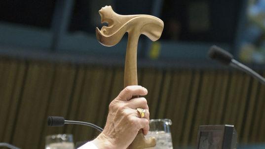破壊や紛失を経てもなお国連総会で「ソーの小づち」が使われる理由