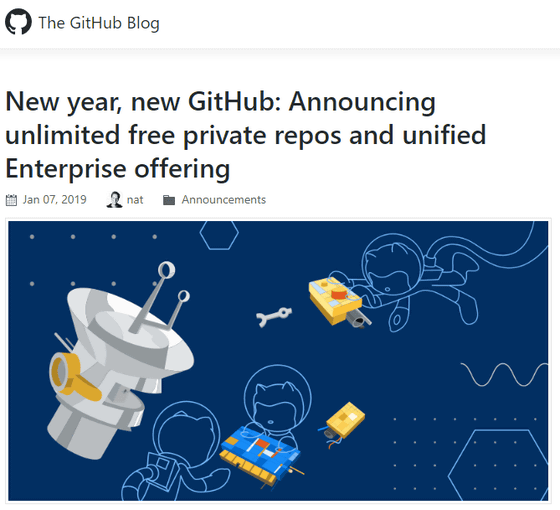 Free users of GitHub also have unlimited use of private