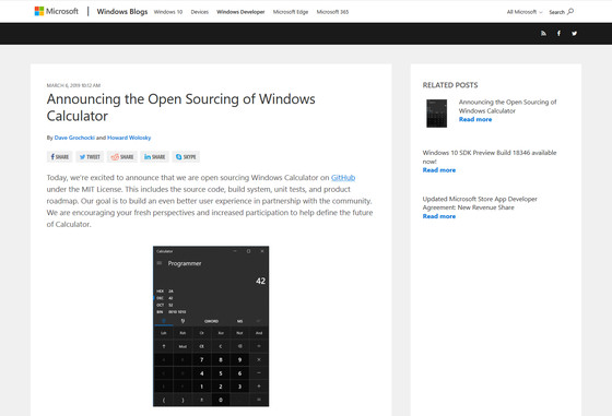 Microsoft open sourced Windows 10 standard 'Windows