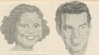 GIGAZINE - How to make ascii art with a typewriter & book of 1939 is