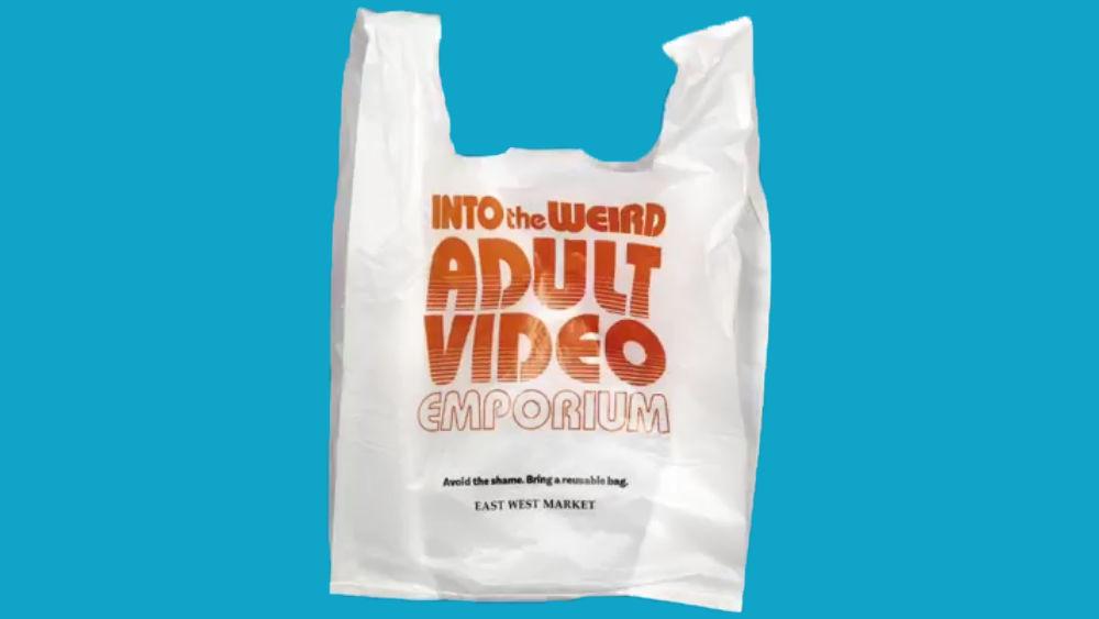レジ袋削減のために「アダルトビデオ店」とプリントしたら逆に人気爆発 ...