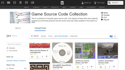 Game Source Code Collection' where you can view the source