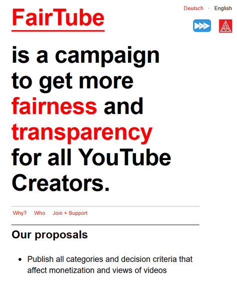"FairTube"" campaign aims to make YouTube video non-display"