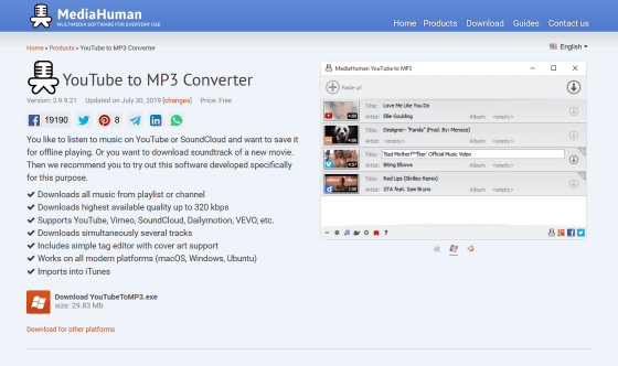 YouTube to MP3 Converter '
