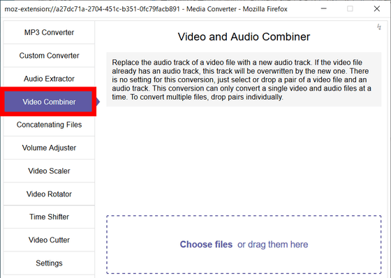 Firefox add-on that allows MP3 conversion, video conversion