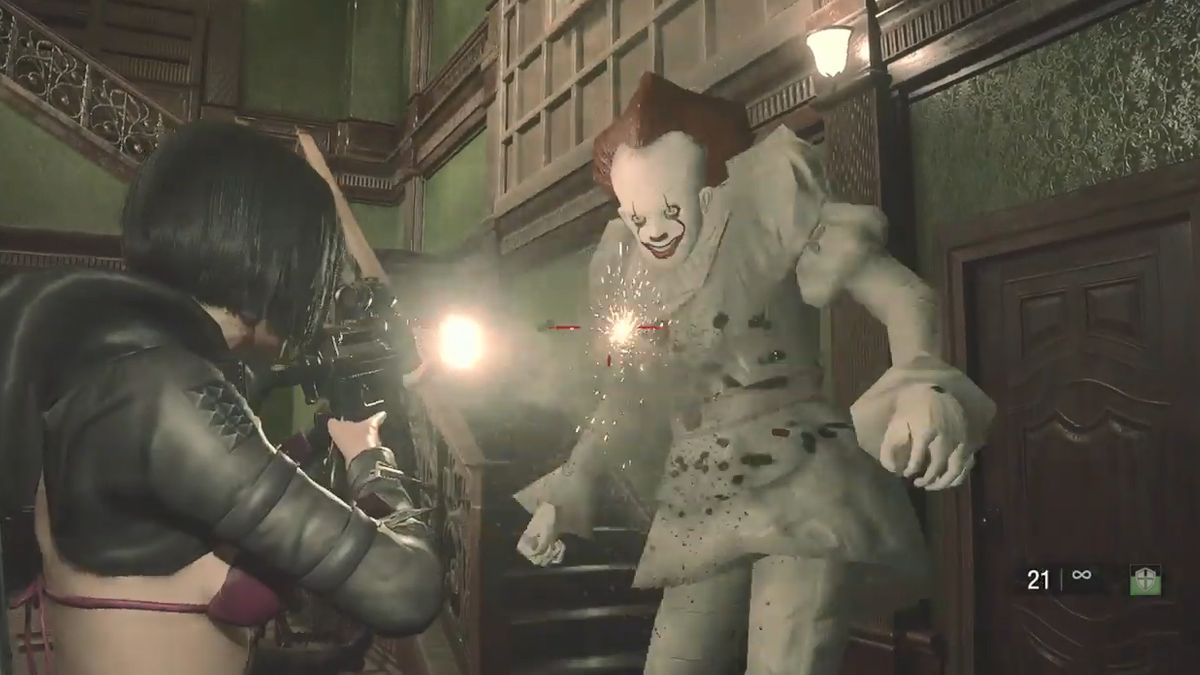 Mod That Makes Resident Evil Re 2 Tyrant A Scary Murder Clown