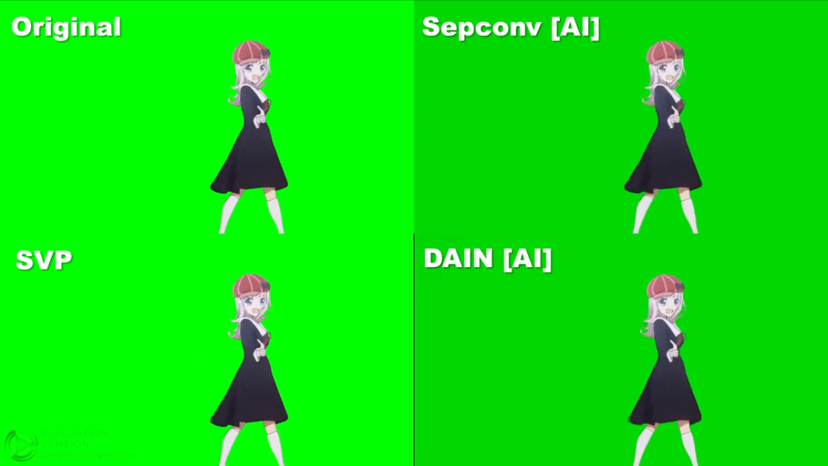 """Photo of Frame interpolation software """" Dain-App '' that moves animation and movies slimy using AI"""