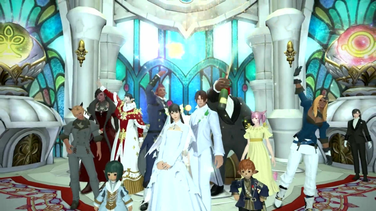 Photo of Eternal band couple in Final Fantasy XIV get married in reality